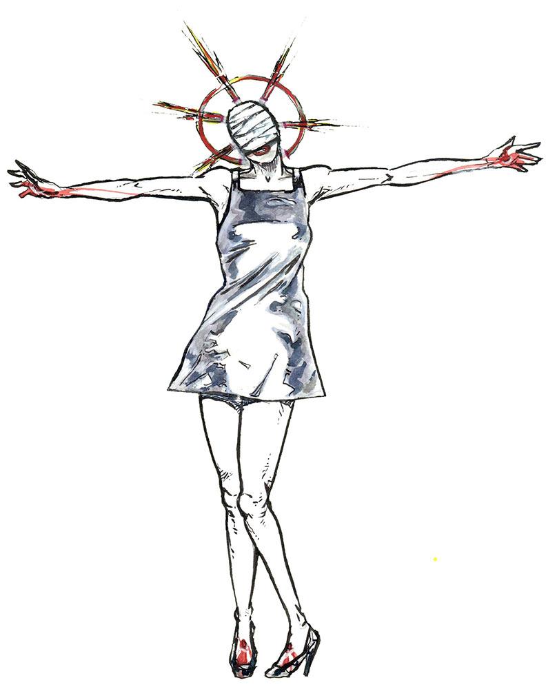 costume: silver saint (jörg vogeltanz 1995)
